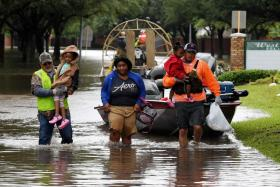A massive round-the-clock rescue operation is ongoing in Houston.