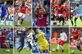 Top 10 biggest deals in the Premier League; (top row L-R) Alvaro Morata who joined Chelsea from Real Madrid, Alexandre Lacazette who joined Arsenal from Lyon, Kyle Walker who joined Manchester City from Tottenham Hotspur, Romelu Lukaku who joined Manchester United from Everton, Benjamin Mendy who joined Manchester City from Monaco (bottom row L-R) Bernardo Silva who joined Manchester City from Monaco, Tiemoue Bakayoko who joined Chelsea from Monaco, Ederson who joined Manchester City from Benfica, Naby Keita who joined Liverpool from RB Leipzig and Nemanja Matic who joined Manchester United from Chelsea.