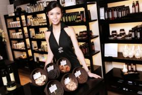 Ms Cheryl Gan is constantly blending new scents.