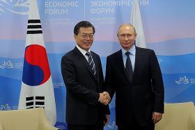 Moon, Putin discuss 'unpredictable' North
