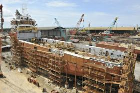 Nam Cheong's shipyard in Kuala Baram, Sarawak.