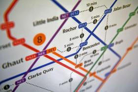 New MRT map to show walking time between some stations