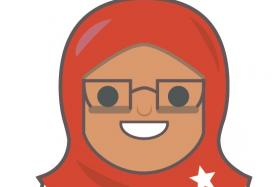 Twitter emoji of Madam Halimah Yacob.