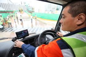 """The """"Drive Safe, Work Safe"""" campaign is to raise awareness of the potential risks of vehicles in the workplace. Tech such as cameras that allow truck drivers to check  blind spots."""