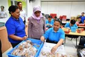 President Halimah visits special needs centre for adults