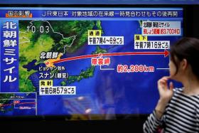 North Korea's missile yesterday flew over Japan before landing in the Pacific Ocean.