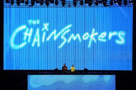 The Chainsmokers performing at 2017 Formula 1 Singapore Airlines Singapore Grand Prix.
