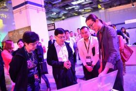 Finance Minister Mr Heng Swee Keat at the Singapore Week of Innovation and Technology on 18 September 2017.