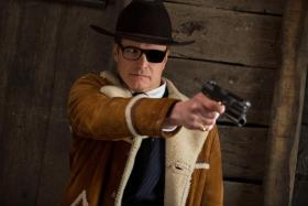 (Above) Colin Firth returns in Kingsman: The Golden Circle. Firth with Taron Egerton at Comic-Con International 2017.