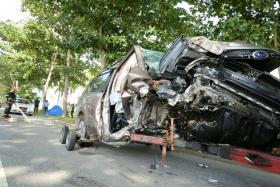 A five-seater SUV went out of control and smashed head-on into a tree at about 6.30am on 29 July 2016 at Changi Coast Road. The driver, Mr Yukio Matsuo, a 21-year-old full-time national serviceman believed to be an engineering technician in the Navy, was killed.