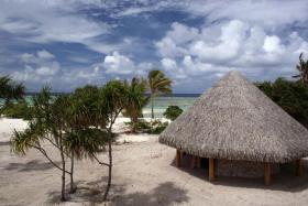 A villa in The Brando resort on the atoll of Tetiaroa.