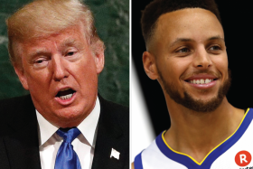 Donald Trump and Stephen Curry