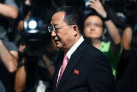 North Korean Foreign Minister Ri Yong Ho.