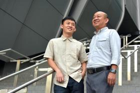 SUSS students Ho Kin Yunn (left) and Foo Cheong Ho.