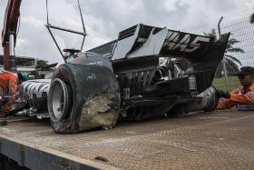 Tyre explosion mars Malaysia Grand Prix practice