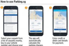 Pay for parking via mobile app