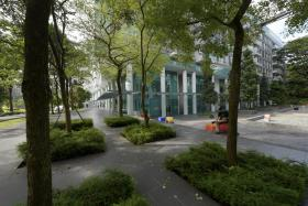 The public can use One North Residences' outdoor plaza and retail outlets on the ground floors of its residential blocks.