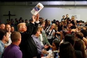 Be 'proud' more didn't die, Trump tells Puerto Rico