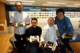 (From left) Chefs Sau Del Rosario, Malcolm Lee, William Wongso and KF Seetoh at OUE Re:Store.