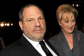 Harvey Weinstein (left) with Meryl Streep in 2012.