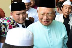Prime Minister Najib Razak, who is also the president of Umno.
