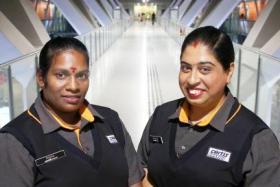 Ms Punitha Subramanium (left) and Ms Attla Don Krystellina Sydney.