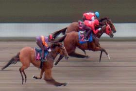 Southern Spur beating Around The World in Tuesday's Trial 3.