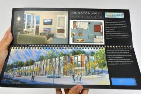 A brochure of Kingston West, one of the developments that formed part of Kawarau Falls Station in Queenstown.