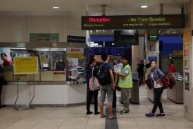 MRT train service was disrupted on Oct 7 due to ponding in the tunnel at Bishan.
