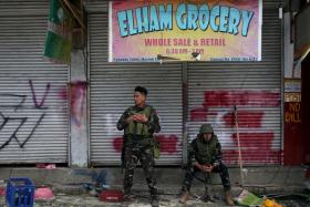 Government soliders in Marawi.