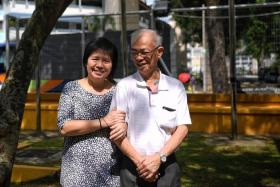 Madam Lee Hui Theng's quick thinking helped her husband, Mr Lim Huah Yong, survive a stroke in 2015.