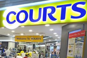 Big retailers like Courts are investing their e-commerce platforms.