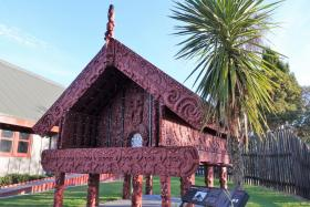 (Above) Stunning Maori architecture in Te Puia; Mr Rangimoana Taylor telling stories behind Maori exhibits; the famous Puhutu Geyser; a haka performance.