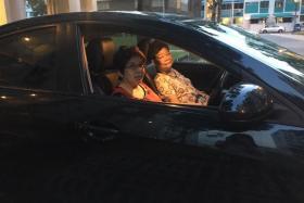 Madam Irene Tan (left) with Madam Sam Yock Yien.