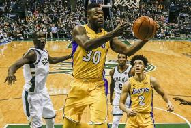 Lakers' Ball youngest player to hit triple-double