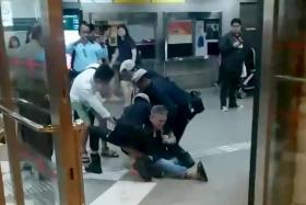 Man arrested for using criminal force on policeman at Lavender MRT station