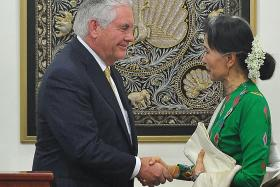Sanctions won't help Rohingya crisis: Tillerson