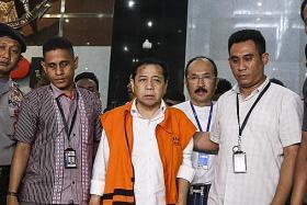 Indonesia Parliament Speaker in custody of anti-graft agency