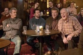 (From left) Cast of men-children with Mel Gibson as Kurt, Mark Wahlberg as Dusty, Will Ferrell as Brad, and John Lithgow as Don.