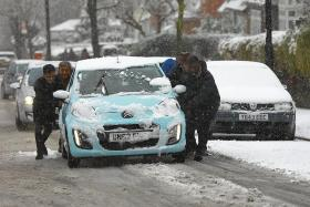Power restored to 100,000 British homes after heavy snow