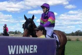 Gingerella (Lee Newman atop) gets it right at her third start in Bunbury.