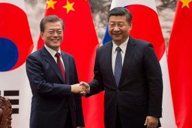 South Korea, China seek peaceful solution to N. Korean nuclear issue