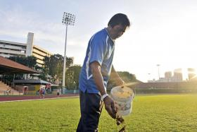 Lambri Moondari first worked as a groundsman at Queenstown Stadium in 1977, before moving to Hougang Stadium in 2000.