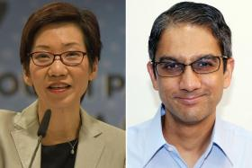 """I hope that having had time to reflect on the matter, you will do the right thing and set a correct example for maintaining clean and honest politics in Singapore."" - Leader of the House Grace Fu (left) in her letter to Workers' Party Non-Constituency MP Leon Perera (right)"