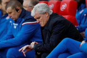 The writing was on the wall for Mark Hughes, as Stoke had lost six of their last eight games in all competitions.