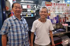 Hawkers provide needy elderly with free lunches