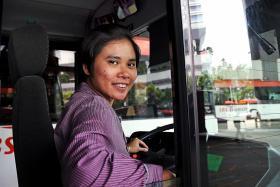 Bus captain comforts agitated passenger