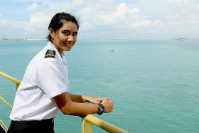 She travelled the world for 12 months on maritime internship