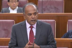 Minister for Home Affairs and Law K Shanmugam.