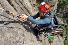 Wheelchair-bound athlete honoured for climbing mountain